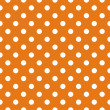 Stock Vector: Seamless vector pattern with polkdots on autumn orange background
