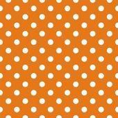 Padrão sem emenda vector com bolinhas em fundo laranja outono — Vetorial Stock