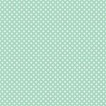 Mini polka dots on fresh mint green background retro seamless vector pattern — Stock Vector