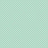 Mini polka dots on fresh mint green background retro seamless vector pattern — Stok Vektör