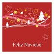 Feliz Navidad espanol vector Christmas card or invitation — Stock Vector