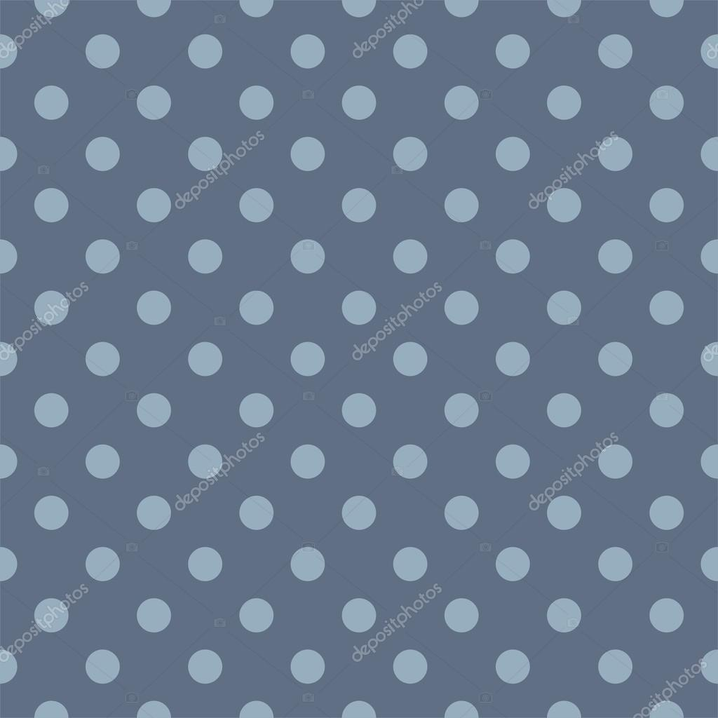 Vector seamless pattern with polka dots on a sailor navy blue background. Texture for cards, invitations, wedding or baby shower albums, backgrounds, arts and scrapbooks. — Stok Vektör #12727514