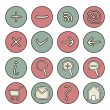 Icons or web buttons set - doodle hand drawn illustration — Stock Vector