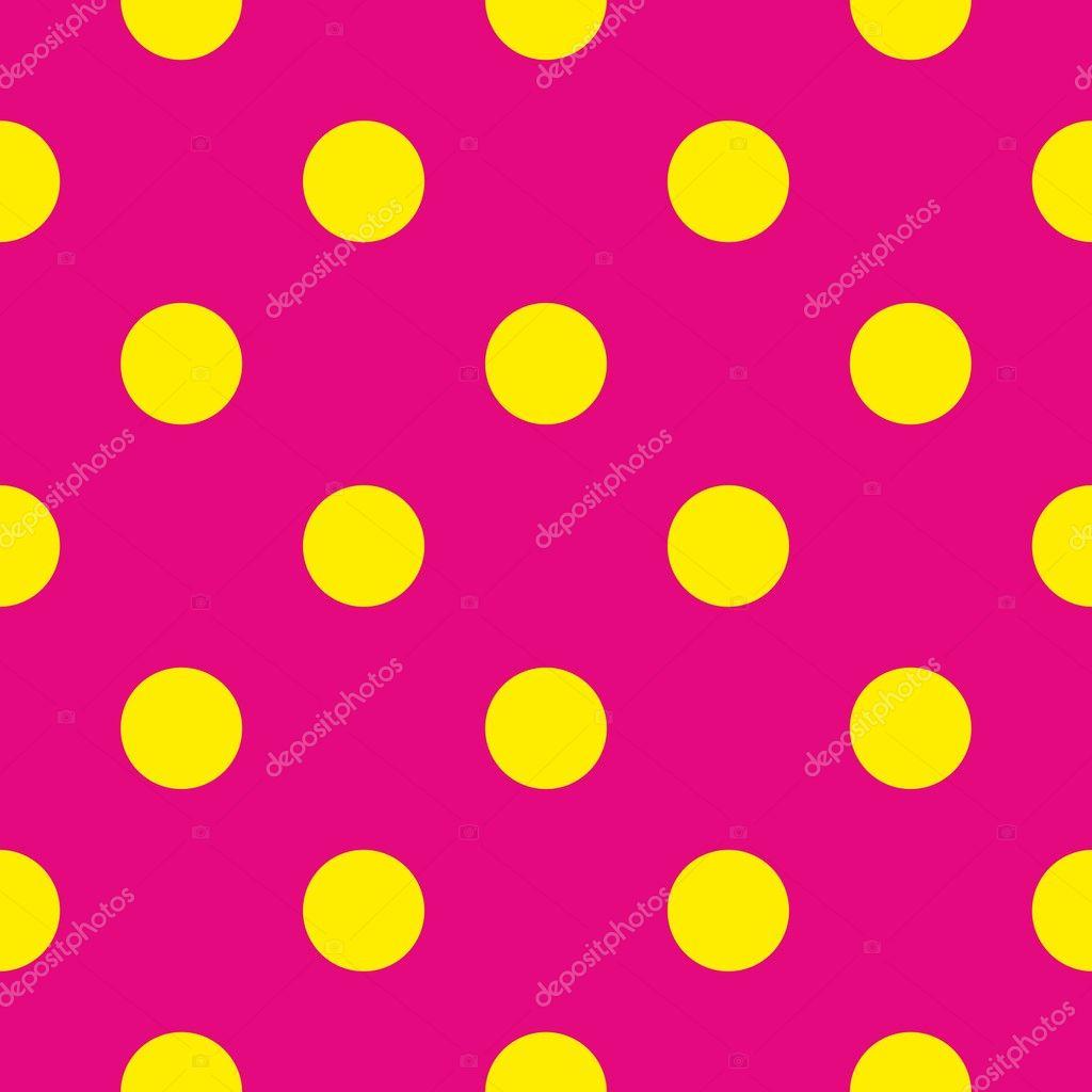 yellow polka dot background pattern stock vector alena0509 94191448