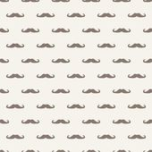 Seamless vector pattern, texture or background with retro gentleman mustaches on beige background. — Stock Vector