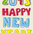 Happy New Year 2013 hand drawn vector doodle  wishes — Imagens vectoriais em stock