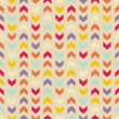 Vector seamless colorful pattern, texture or background with zigzag stripes — Vector de stock