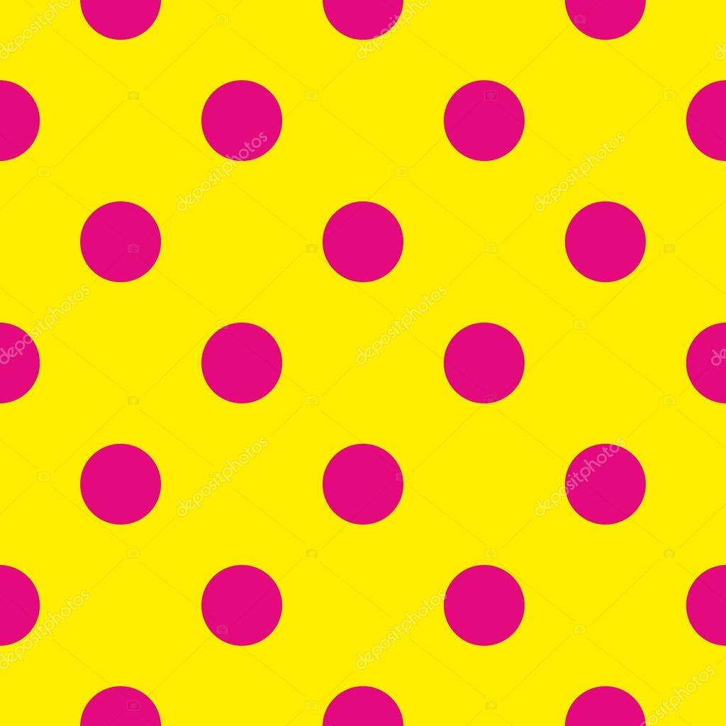 Seamless Vector Pattern Or Texture With Neon Pink Polka