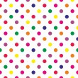 Royalty-Free Stock Vector Image: Seamless neon colorful polka dots vector pattern or texture
