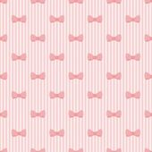 Sweet pink bow seamless vector pattern or background — Vettoriale Stock