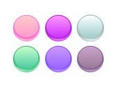 Set of vector empty glowing colorful web buttons isolated on white background — Stock Vector