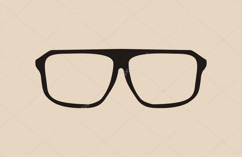 Eyeglass Frame Vector : Vector big black hipster eye glasses Stock Vector ? mala ...