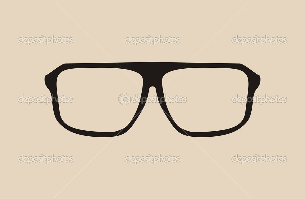 Glasses Frames Vector : Vector big black hipster eye glasses Stock Vector ? mala ...