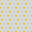 Seamless vector pattern, texture or background with doodle hand drawn turn on and off light bulbs isolated on grey neutral background. Industrial artistic desktop wallpaper for creative web design — Stock Vector