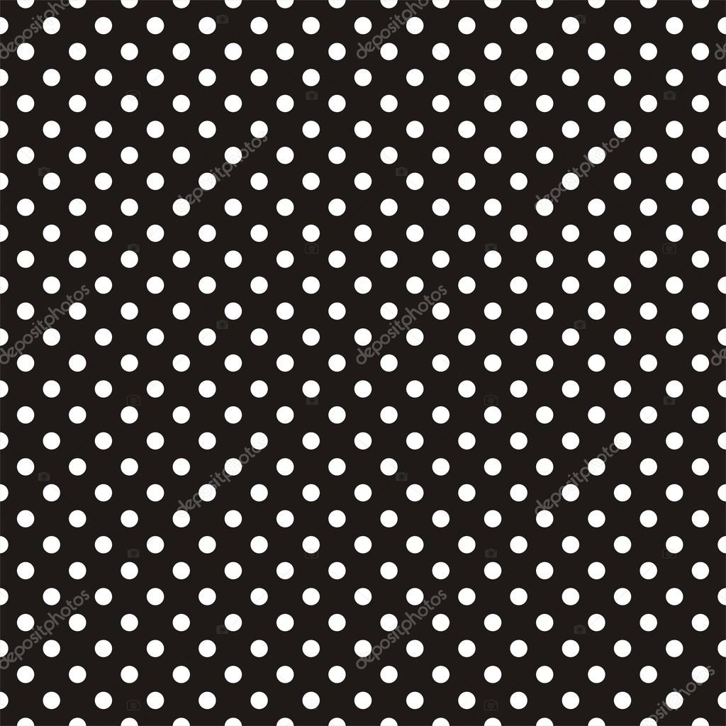 White Dot Black Background White Polka Dots on Black