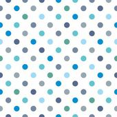 Seamless vector pattern, texture or background with cool mint, blue, grey and green polka dots on white background for web design, desktop wallpaper, winter blog, website or invitation card. — Stock Vector