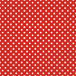 Retro seamless vector pattern with small white polka dots on red background — Stock Vector