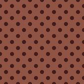 бесшовные векторные шаблон с темно коричневый горошек на шоколадный коричневый фон. — Cтоковый вектор