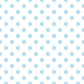 Seamless vector pattern with sweet pastel blue polka dots on white background. — Stockvektor