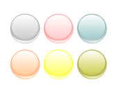 Colorful vector web button set isolated on white background — Stockvektor