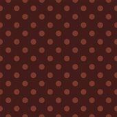 暗いチョコレートの茶色の背景に口述水玉とシームレスなベクター パターン. — ストックベクタ