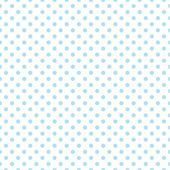 Seamless vector pattern, texture or background with cool blue polka dots on white background for web design, desktop wallpaper, winter blog, website or invitation card. — Stock Vector
