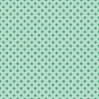 Seamless vector pattern with dark green polka dots on a retro vintage mint green background. — Stock Vector