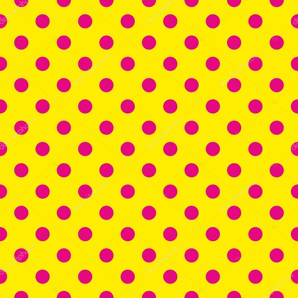Yellow and pink polka dots