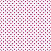 Patrón de vector transparente con lunares de color rosa oscuro neón sobre un fondo blanco. — Vector de stock