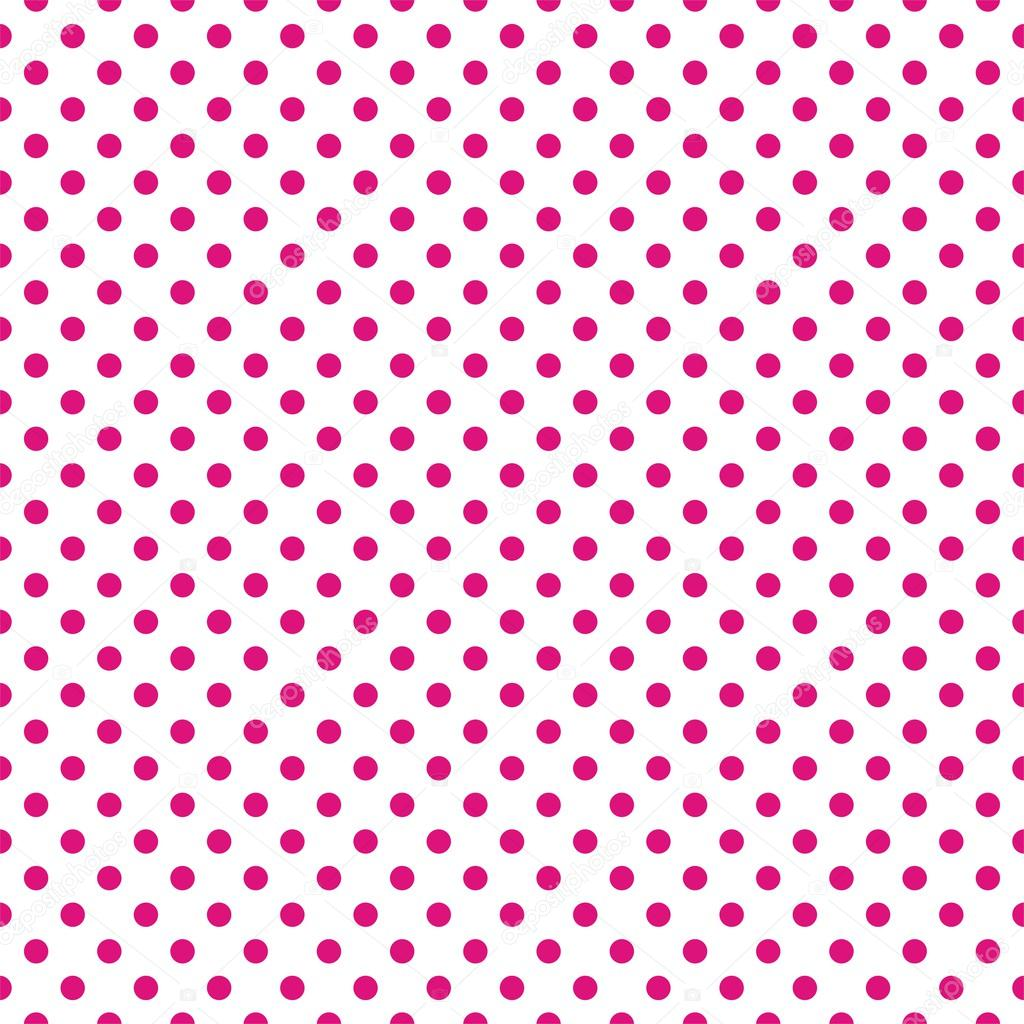 Pink Polka Dot Patterns Seamless vector pattern with