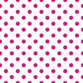 Sömlös vektor mönster withdark neonrosa prickar på vit bakgrund — Stockvektor