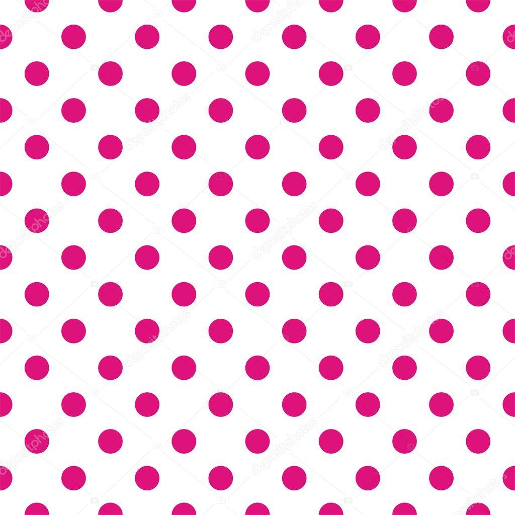 Pink Polka Dot Patterns Seamless vector pattern