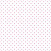 Seamless vector pattern with little pastel pink polka dots on a white background. — Stock Vector
