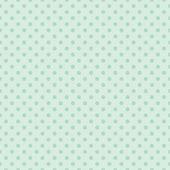 无缝矢量花纹有暗绿色圆点复古复古薄荷绿色背景上. — 图库矢量图片