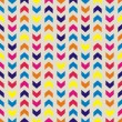 Aztec Chevron seamless colorful vector pattern, texture or background with zigzag stripes. Thanksgiving background, desktop wallpaper or website design element  — Stok Vektör