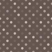 άνευ ραφής διάνυσμα μοτίβο με μπεζ, καφέ και γκρι πολύχρωμο πόλκα τελείες σε σκούρο φόντο. — Διανυσματικό Αρχείο