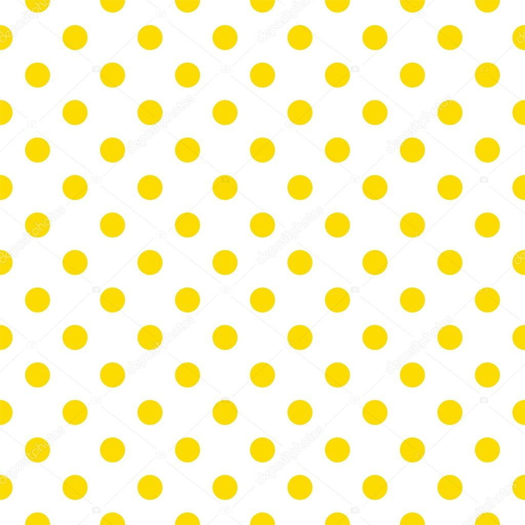 Seamless vector spring or summer pattern with sunny yellow polka