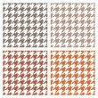 Houndstooth vector seamless pattern set. Traditional Scottish plaid fabric collection for colorful website background or desktop wallpaper in brown, white, dark and grey color. — Stock Vector #35249137