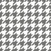Houndstooth vector seamless pattern. Traditional Scottish plaid fabric for colorful website background or desktop wallpaper in grey or brown and white color. — Stock Vector