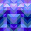 Seamless vector blue pattern, texture or background. Violet, navy blue and dark colorful geometric mosaic shapes. Hipster flat surface design triangle wallpaper with aztec chevron zigzag print — Stock Vector