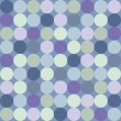 Seamless vector pattern or background with big colorful dots on dark navy blue background. — 图库矢量图片