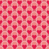 Pink and red vector background with hearts. Full of love seamless pattern for valentines desktop wallpaper or website design. — Stock Vector