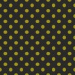 Stok Vektör: Seamless vector dark pattern or texture with green polkdots on black background.