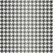 Houndstooth seamless vector black and white gradient pattern. Traditional Scottish plaid fabric with gradient for website background or desktop wallpaper. — Stock Vector