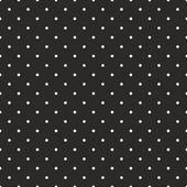 Modèle sombre vectorielle continue à pois blancs sur fond noir. — Vecteur