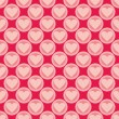 Pink and red vector background with hearts. Full of love seamless pattern for valentines desktop wallpaper or website design. — Stock Vector #40305157