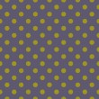 Navy blue vector background with green polka dots. Seamless pattern for halloween desktop wallpaper and website design — 图库矢量图片