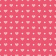 Pink vector background with hearts and polka dots. Cute seamless pattern for valentines desktop wallpaper or lovely website design. — Stock Vector