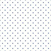 Seamless vector pattern with sailor navy blue polka dots isolated on white background. — Stockvector