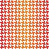 Houndstooth naadloze vector patroon. traditionele schotse geruite stof voor kleurrijke gradiënt website achtergrond of desktop wallpaper in rood, roze, oranje en gele kleur. — Stockvector